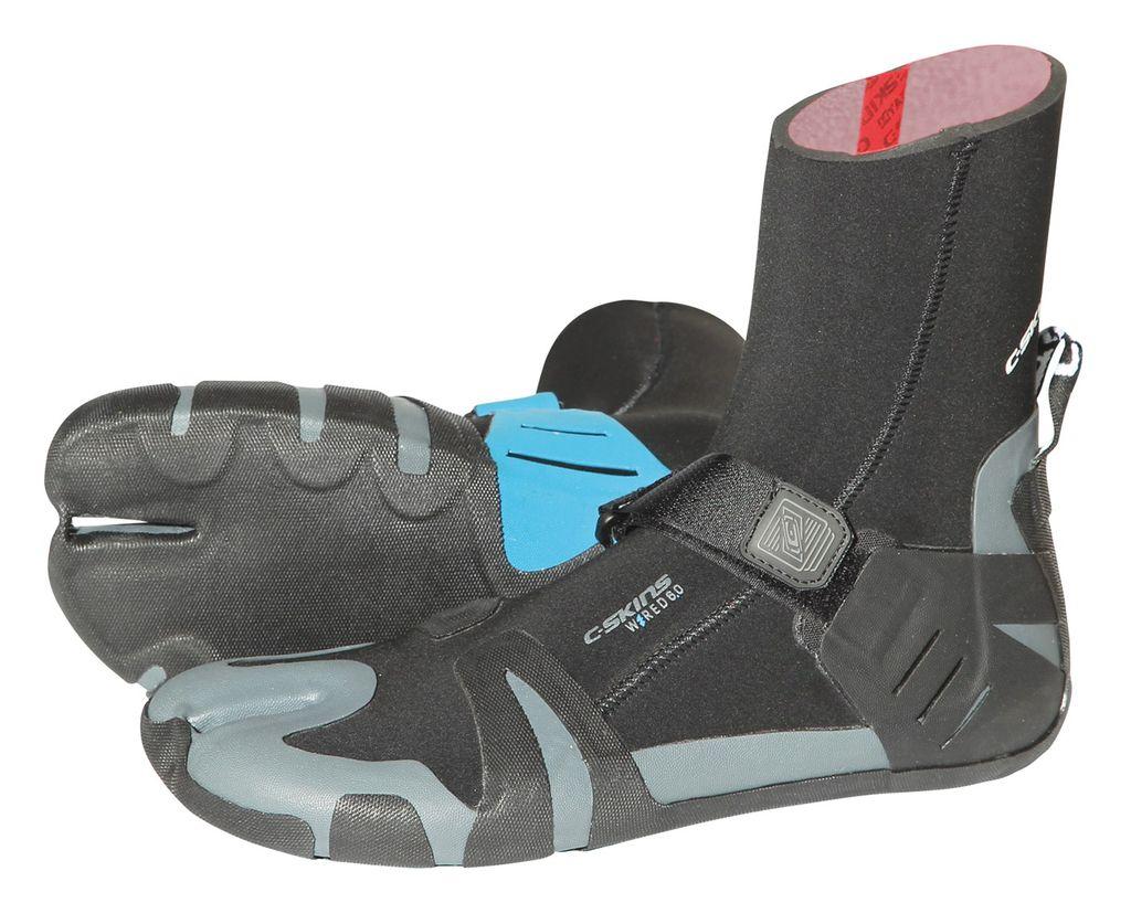 C-Skins C-Skins - 6mm - Wired Split Toe Boot, Blk/Blu, UK10/US10,5/44