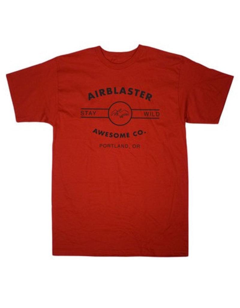 Airblaster Airblaster - Basic Terry Tee, Red, L