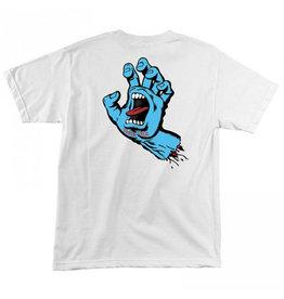Santa Cruz Santa Cruz - Screaming Hand Youth - White - S/10år