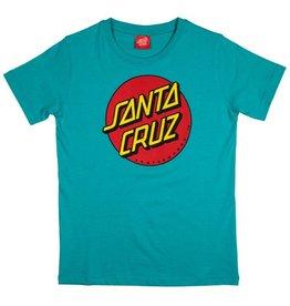 Santa Cruz Santa Cruz - Classic Dot Youth Tee - Baltic Blue - L/14år