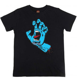 Santa Cruz Santa Cruz - Screaming Hand Youth - Black - M/12år