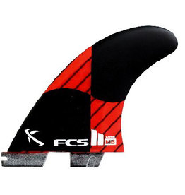 FCS FCS2 - 3Fin - Matt Biolos PC Carbon Rocket red, Large (75-90kg)