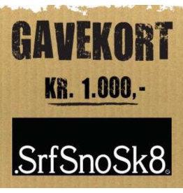 Gift Card Gavekort SrfSnoSk8 kr. 1.000