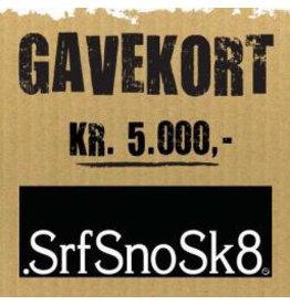 Gift Card Gavekort SrfSnoSk8 kr. 5.000