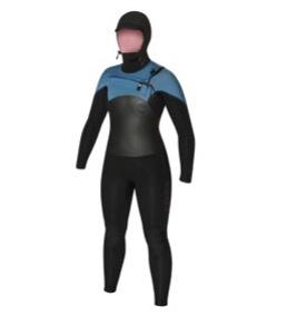 C-Skins C-Skins - 6/5mm - Ladies Wired Dryknit Hooded, B/A, US8/UK10 (165-170)