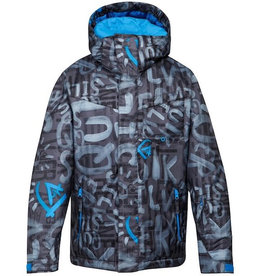 Quiksilver Quiksilver - Mission Printed Youth, Asphalt, 8 år