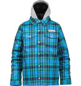 Burton Burton - Boys Uproar Jacket, Blue-Ray/Switch Plaid, XS