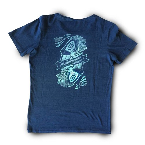 Sea Sick Surf Sea sick mens Lion tee Indigo green print