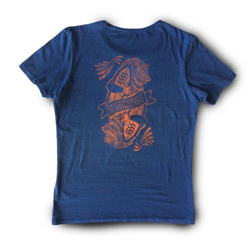 Sea Sick Surf Sea sick mens Lion tee Indigo red print