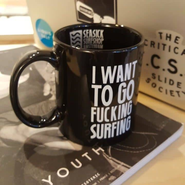 Sea Sick Surf Sea Sick Surf coffee mug black
