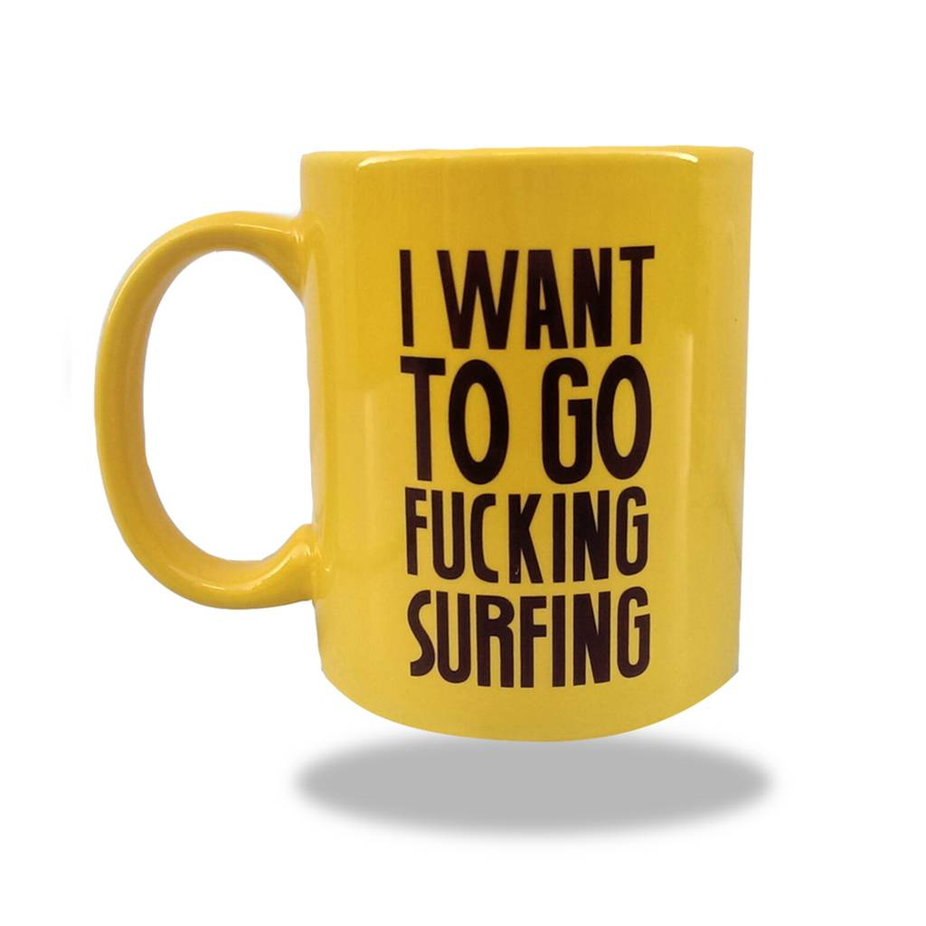 Sea Sick Surf Sea Sick Surf coffee mug yellow