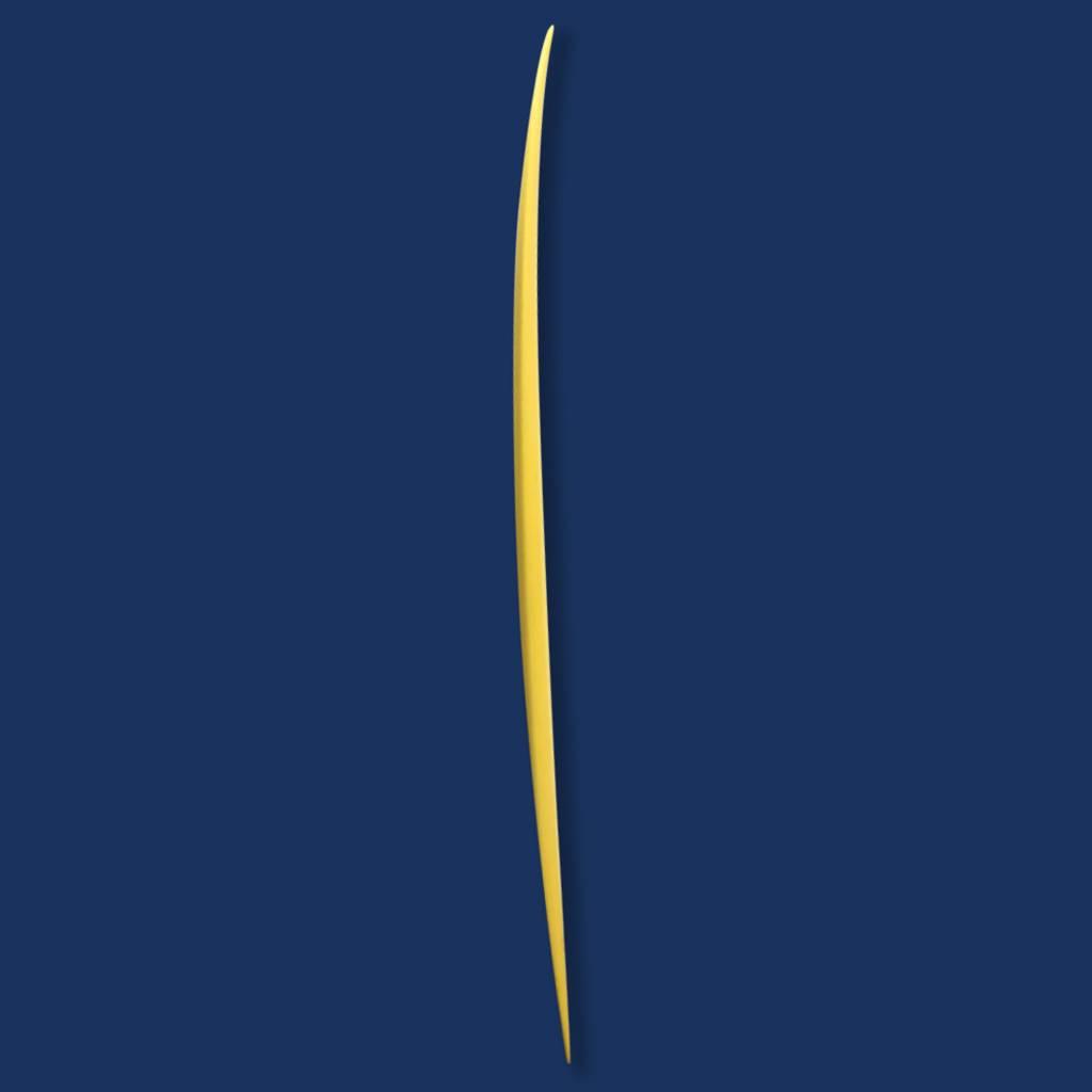 Josh Hall fish simmons 7'7 yellow