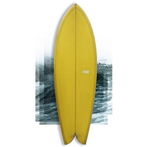 "Fernand fish ""Number Two"" 5'8 yellow"
