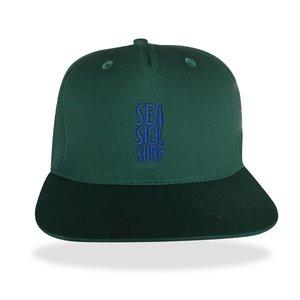 Sea Sick Surf Sea sick 5 panel snapback cap green