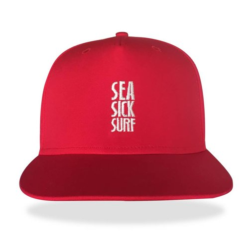 Sea Sick Surf Sea sick 5 panel snapback cap red