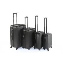 Royalty Rolls vier delige harde ABS kofferset / trolleyset zwart