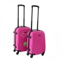 ABS handbagage koffer. Roze