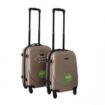 ABS handbagage koffer set. Champagne