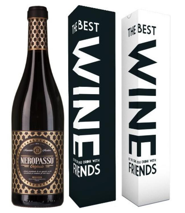 "Mabis Fles Neropasso 2015 + verpakking ""The best wine is the one..."""