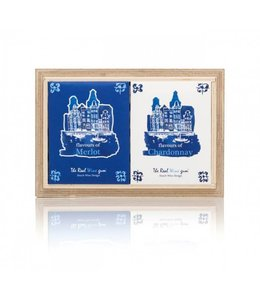 The Real Wine Gum Duo on wood Delft Blue