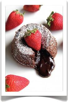 Chocolade lava cake – Recioto