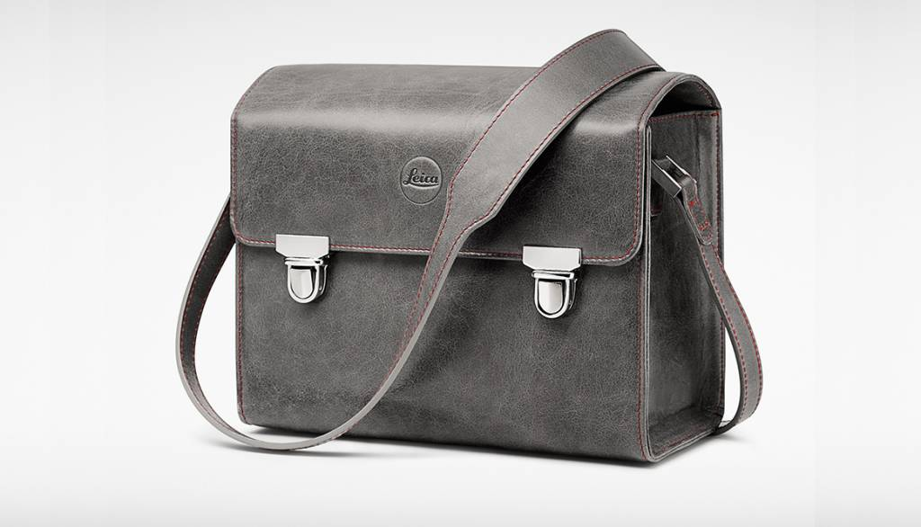 Leica System Case, size S, leather, stone grey
