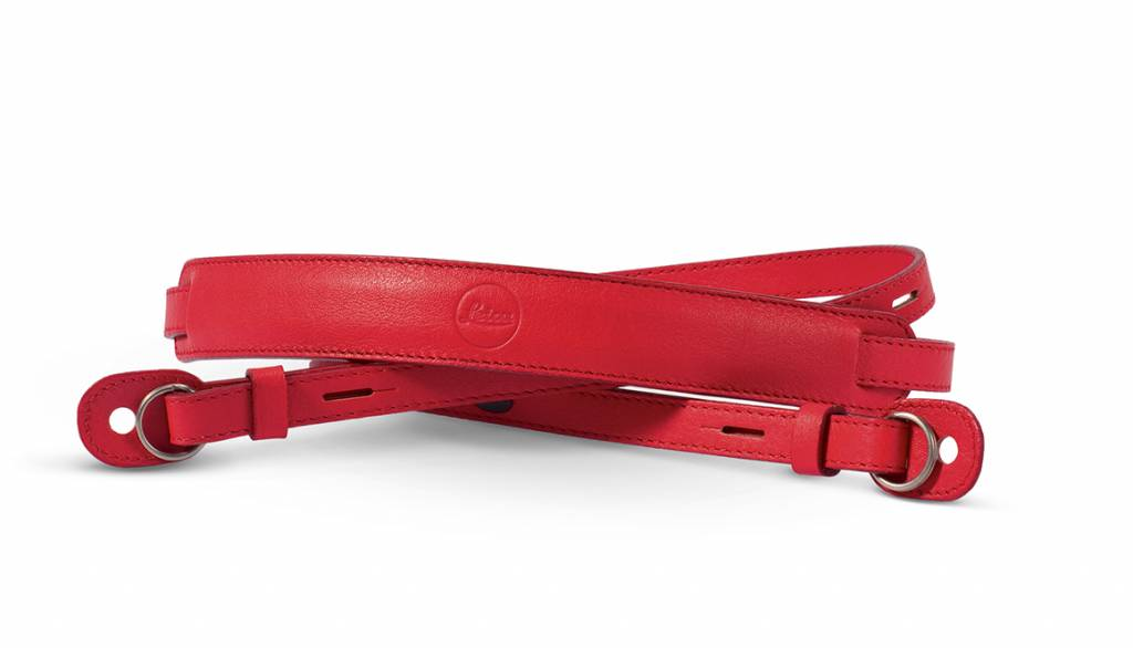 Leica Neck Strap, leather, red