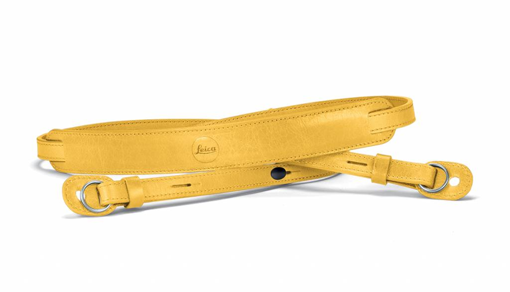 Leica Neck Strap, leather, yellow