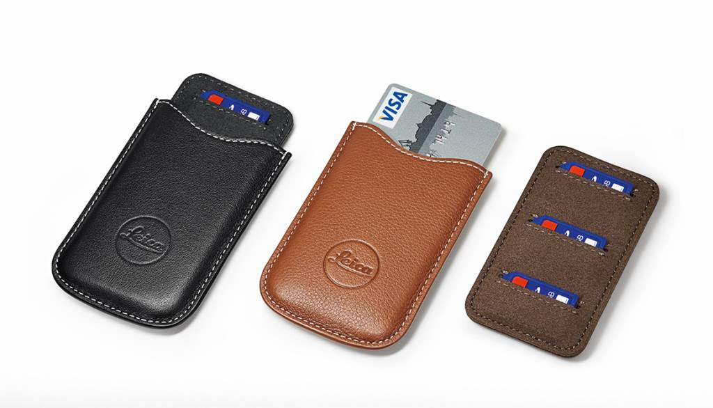 Leica SD and Credit Card Holder, leather, black