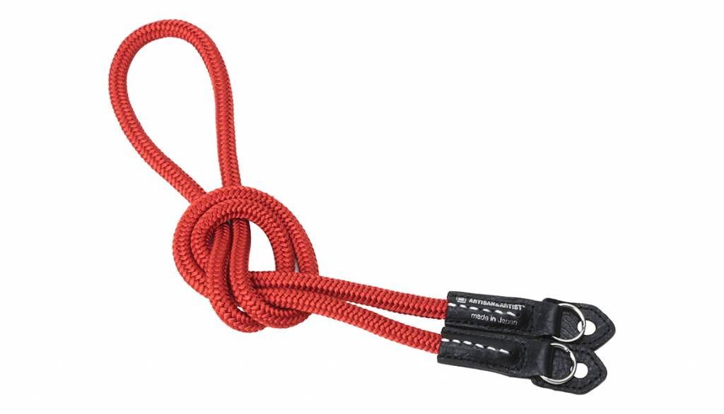 Artisan & Artist ACAM 301N silk camera strap - red