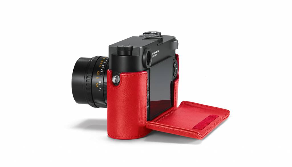 Leica Protector, M10, leather, red