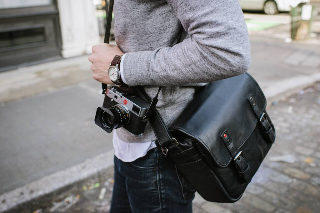 ONA Berlin II for Leica, leather, black