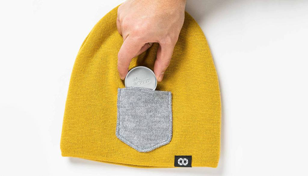 COOPH Beanie WINTER, sunflower/gray