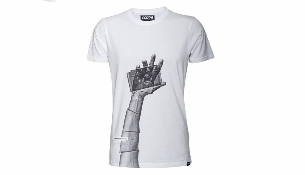 COOPH T-Shirt SNAPOGRAPHER, white, XS