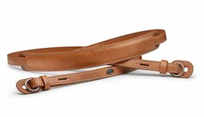 Leica Leica Carrying strap with protecting flap, M / Q / X-system, leather, cognac