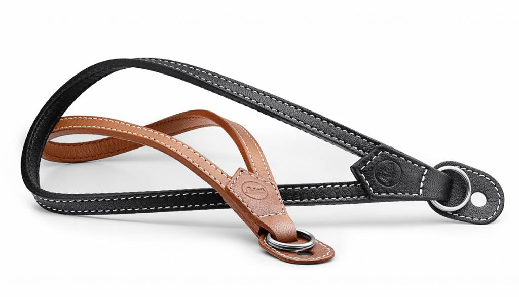 Leica Wrist Strap with protecting flap, M / Q / X-system, leather, cognac