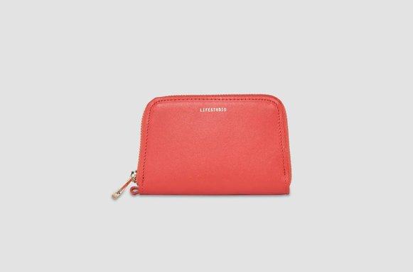 Rotes Leder Portemonnaie