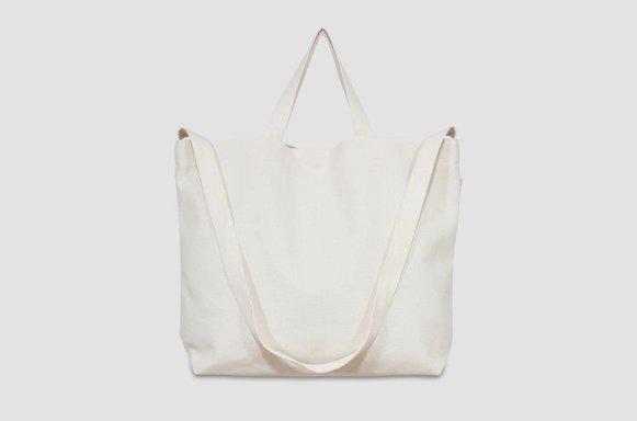 """Große  Canvas Bag """"ivory"""""""
