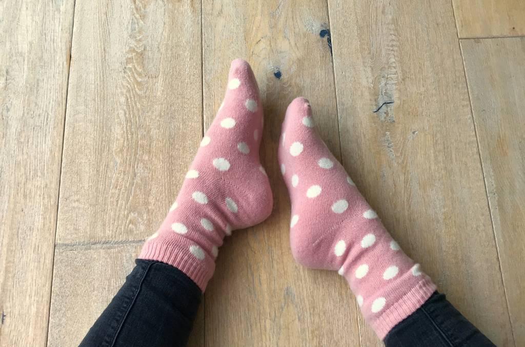 """Soft-Touch Winterwollsocken """"pink-gepunktet"""""""