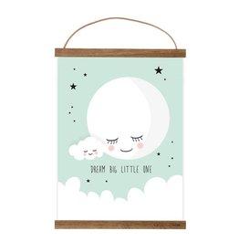Poster Mond mint