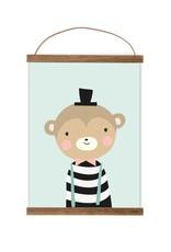 Poster für's Kinderzimmer - Herr von Affe