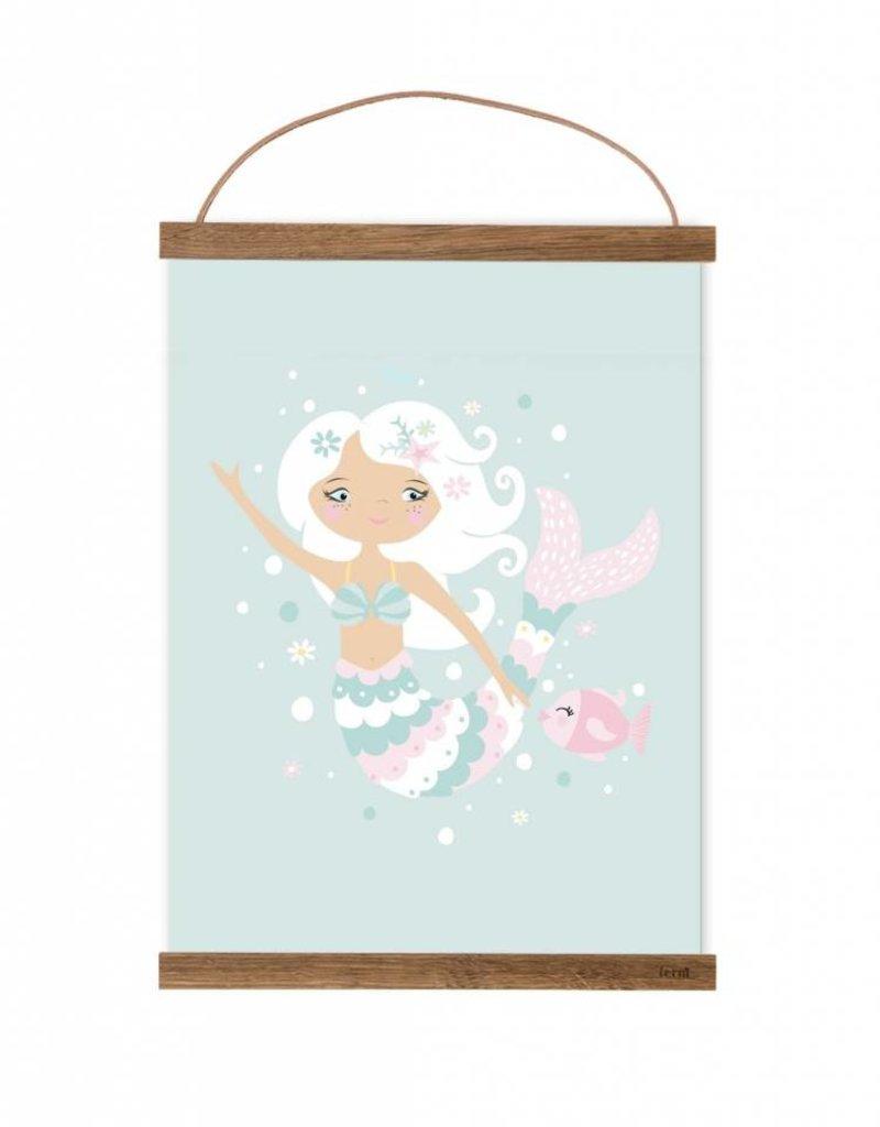 Poster für's Kinderzimmer - Kleine Meerjungfrau