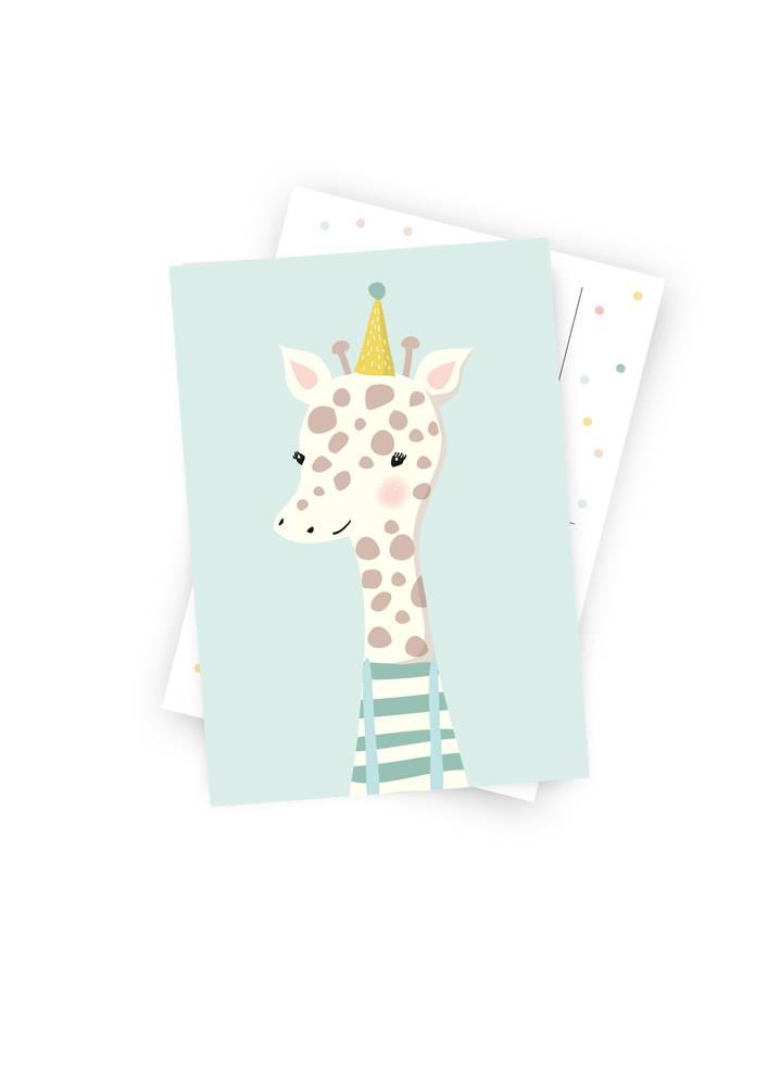 Poskarte Kleine Giraffe-Original Mimirella Illustration
