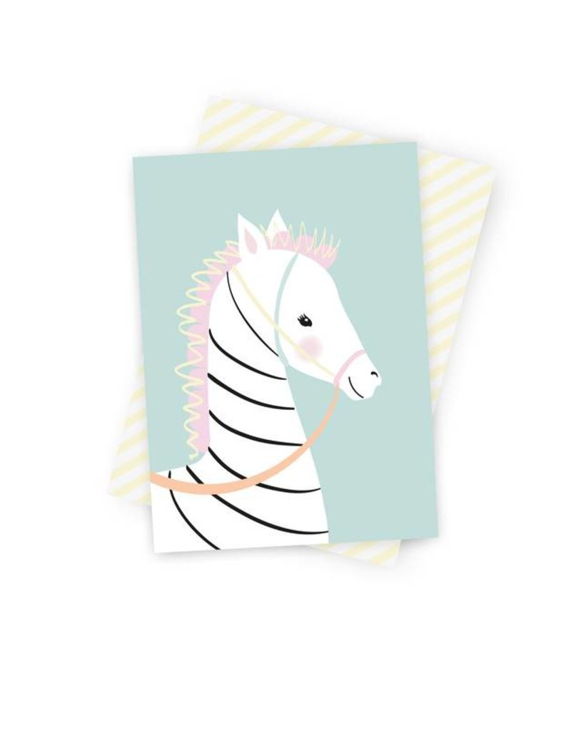 Postkarte Zoe Zebra-Original Mimirella Illustration