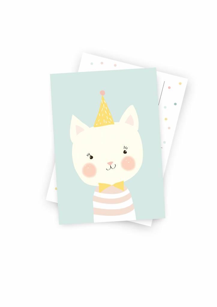 Poskarte Kleine Katze - Original Mimirella Illustration