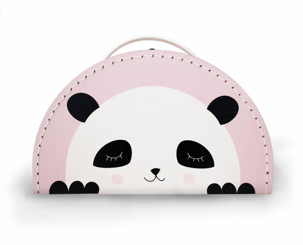 Kinderkoffer Panda rosa- Design by Mimirella - Copy