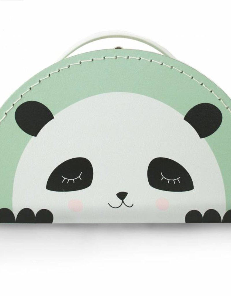 Kinderkoffer Panda mint- Design by Mimirella