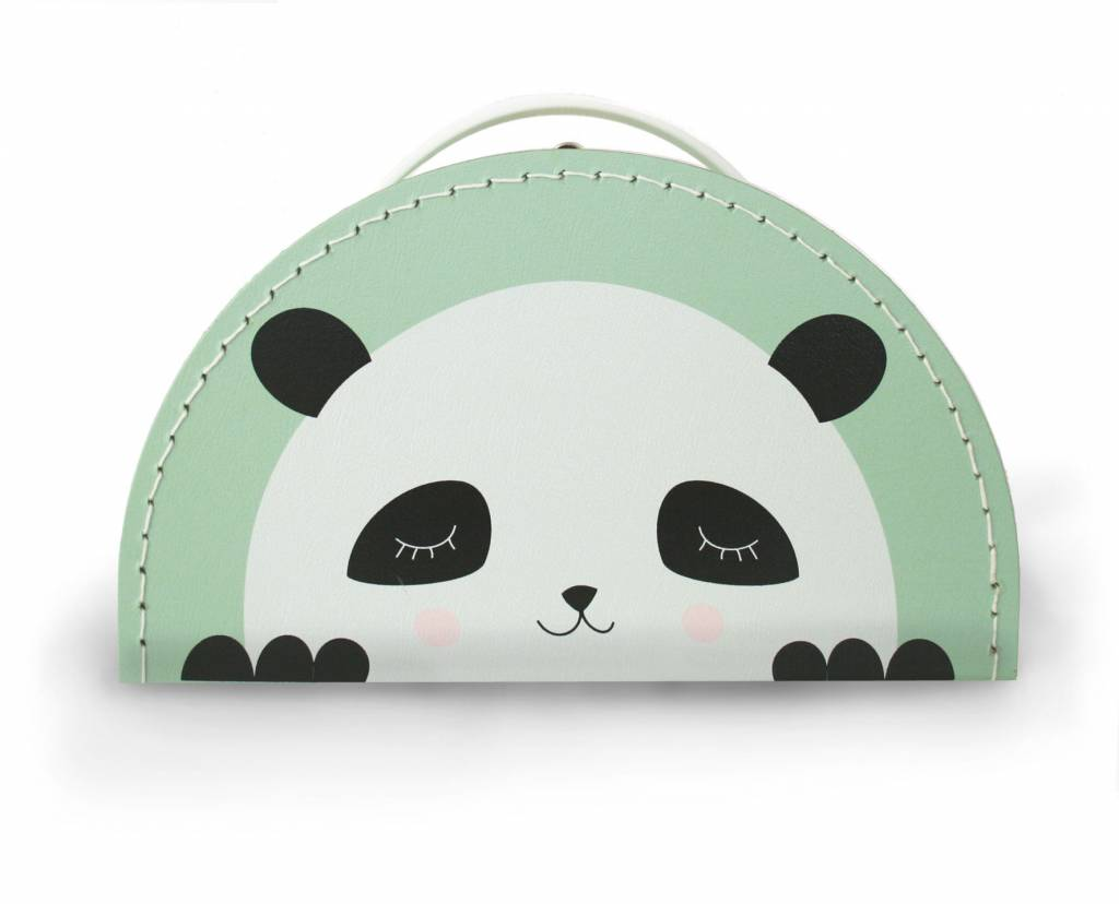 Kinderkoffer Panda mint- Design by Mimirella