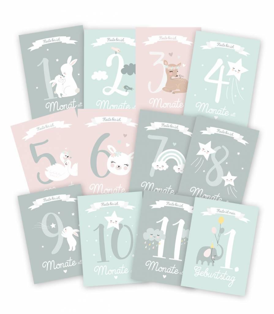 Mimirella Meilensteinkarten-Halte die schönsten Moments deines Babys fest - Copy