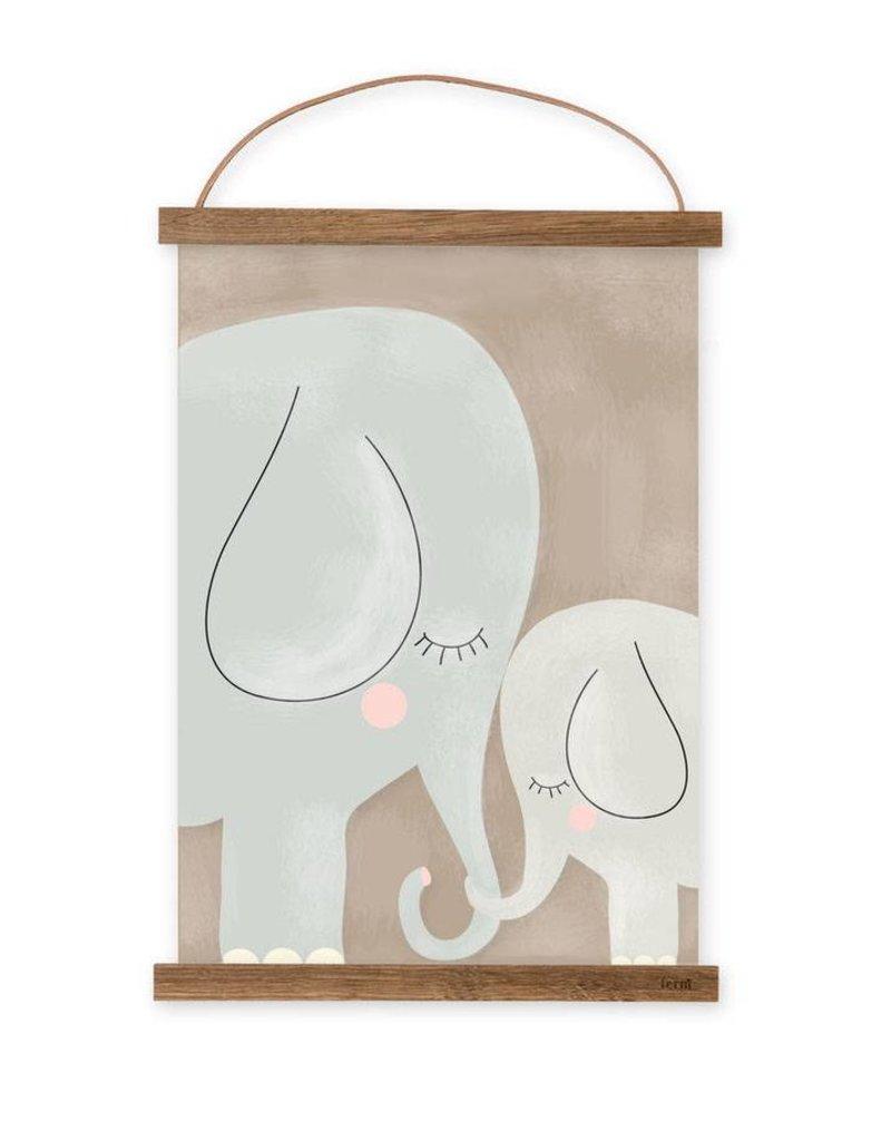 Poster für's Kinderzimmer-Elefanten